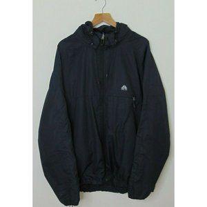 Nike ACG Fit 2xl Black Windbreaker Jacket Full Zip